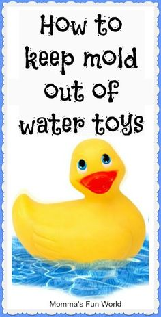 I've thrown away all the bath toys with holes. Wish I had known this easy tip!! Momma's Fun World: How to keep mold out of bath or water toys