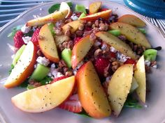 Keeping up with the Joneses: Strawberry Nectarine Salad with Lemon Poppy Seed Dressing