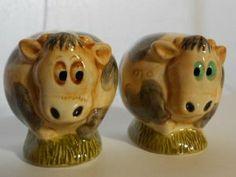 HARMONY BALL KINGDOM POT BELLYS SALT AND PEPPER SHAKERS SET COWS by HARMONY BALL KINGDOM COMPANY. $11.00