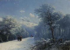"""midnightcorona: """" Ivan Aivazovsky - The Winter Landscape """""""