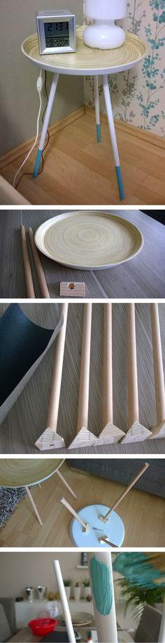IKEA hack: DIY Nachttisch / Beistelltisch aus IKEA-Schale Vinäger I DIY nightstand made of IKEA dish Vinäger