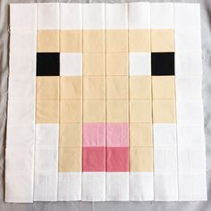 Welcome to Minecraft block and today we introduce a new color! Today we meet Sheep, who is primarily made up of White squares and Champagne squares, with a little Carnation, Blush Pink and Blac… Minecraft Blanket, Minecraft Sheep, Minecraft Pattern, Minecraft Blocks, Minecraft Room, Minecraft Stuff, Minecraft Crafts, Minecraft Party, Minecraft Ideas