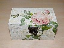 Krabičky - Čajová krabica Vintage 2 - priečinky - 1659647