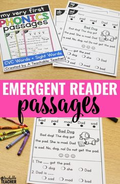In this one NO PREP printable worksheet, students practice word families, rhymes, decode CVC words, read sight words in context, build reading fluency, and increase comprehension. | beginning reading worksheets | cvc word reading passages | tpt | reading worksheet kindergarten cvc reading activities