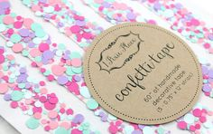 Cotton Candy Confetti Tape - Set of 5 strips
