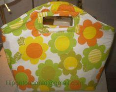 Bolsa Evelinda verde com floral