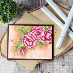 Simon Says Stamp Beautiful Flowers | Craft For Joy Designs