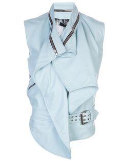 JEAN PIERRE BRAGANZA Draped Moto Vest