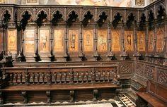 Tarsie  nel Duomo di Siena.