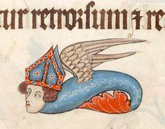 flying bishop monsterLuttrell Psalter, England ca. 1325-1340. British Library, Add 42130, fol. 79r