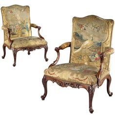 The Glemham Hall Gainsborough Armchairs (441001ALN) | From a unique collection of antique and modern armchairs at https://www.1stdibs.com/furniture/seating/armchairs/