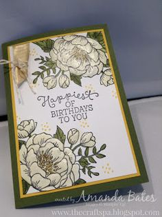 The Craft Spa - Stampin' Up! UK independent demonstrator : Gold Birthday Blooms.... and new Weekly Deals...