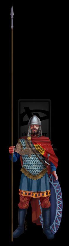 Byzantine heavy infantry by ~KintaroArt on deviantART