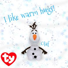 Olaf wants a warm hug from you! Ty Animals 9649c02df36