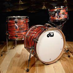 DW Jazz Series Cherry/Gum 12/14/20 3pc Kit Tiger Oyster w/Nickel Hardware from Chicago Music Exchange