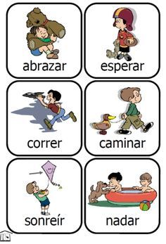 48 printable cards for a fun way to learn common Spanish verbs