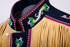 Jacket with Métis beadwork collar.