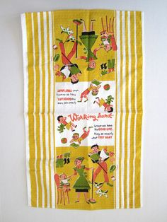 Vintage Towel Funny Graphics. $32.00, via Etsy.
