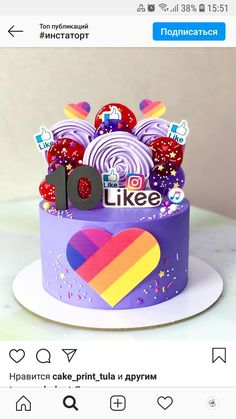 Cake Frosting Designs, Instagram Cake, Cookie Cake Birthday, Modern Cakes, Cake Decorating Videos, 14th Birthday, Dream Cake, Amon, Girl Cakes