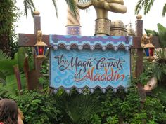 Aladdin Sign Disney World.
