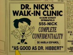 Dr. Nick from The Simpsons