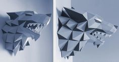 Based on HBO tv series Game of Thrones , the Canadian designer Gedelgo created this beautiful Stark House Wolf Sigil papercraft. - You w...