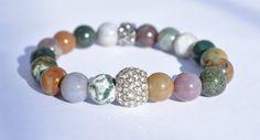 Jaspe Pierre Bracelet, Bracelet de pierres précieuses, empilable Boho Bracelet, Bracelet de stabilité