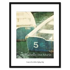 Boat Dingy Photography Blue Green Number 5 Boat, Nautical, Home Decor- Fine Art Photography Print 8x10