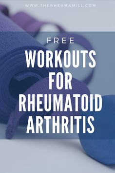 Symptoms of Rheumatoid Arthritis can discourage you from exercising. This doesn't have to be the case with The Rheuma Mill's free workouts. There is a growing collection of workouts and stretches specifically designed for those with Rheumatoid Arthritis. Check out the current library and subscribe for notifications of new workouts!
