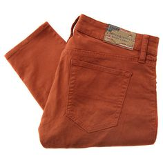 Denim & Supply - Ralph Lauren W24 PSDSB B73ST Orange Jeans (2.485 RUB) ❤ liked on Polyvore featuring jeans, pants, bottoms, pantalones, low rise skinny jeans, super low rise skinny jeans, stretch jeans, skinny fit jeans and destroyed skinny jeans