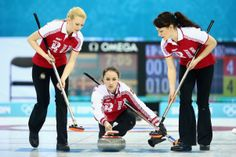 Anna Sidorova of Russia in action during the round robin match against Denmark during day 3 of the Sochi 2014 Winter Olympics at Ice Cube Curling Center on February 10, 2014 in Sochi, Russia. (Photo by Clive Mason/Getty Images)