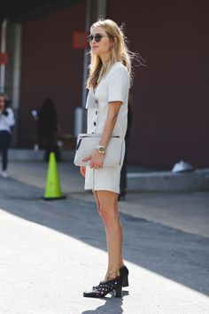 The Most Authentically Inspiring Street Style From New York #refinery29  http://www.refinery29.com/2015/09/93788/ny-fashion-week-spring-2016-street-style-pictures#slide-64  Shoes that are weird in a good way....