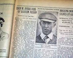 This man got addicted to a radium-rich energy drink that it eventually killed him. He was so radioactive that he had to be enclosed in a lead-lined coffin so radiation released from his bones would. Radium Girls, Event Ticket, History, People, Medicine, Entertainment, Drink, Healthy, Blog