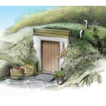 Root Cellar Plans RePurposing a new concrete septic.  Great Idea.  Maybe another 4 a potting shed?