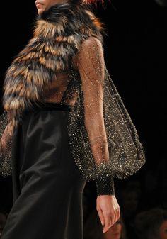 I will not kill it to wear it - roadkill entangled in fish net before death    Fendi - Fall 2011