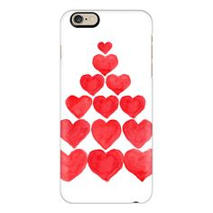 iPhone 6 Plus/6/5/5s/5c Case - Christmas Heart Tree ($40) ❤ liked on Polyvore featuring accessories, tech accessories, iphone case, phone cases, apple iphone cases and iphone cover case