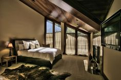 This is one of the bedrooms inside the gorgeous Lake Tahoe condo that was named The Wall Street Journal's 2013 House of the Year.