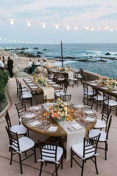 sunset beach wedding reception #DestinationWeddingIdeas
