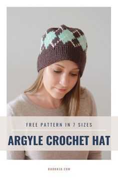 If you're looking for a truly unique crochet hat, give this pattern a try. This project blends three-stranded colorwork crochet with the traditional Argyle pattern in a hat you can enjoy for years.  #BHooked #Crochet #FreeCrochetPattern