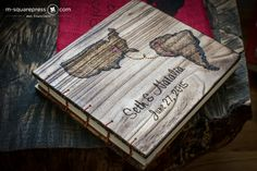 Love Map Wedding Guest Book