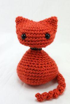 Cate the Kitten  Orange by LilyMoonCrochet on Etsy, $18.00