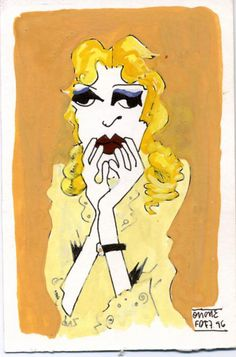 Baby Jane Hudson by Quique Fdez. (Gouache on paper 1996) / #Collage
