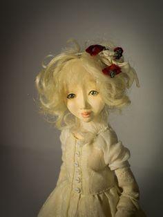 Little Gardener and Fox Handmade air-dry clay doll, OOAK by Romantic Wonders Clay Dolls, Air Dry Clay, Disney Characters, Fictional Characters, Fox, Romantic, Disney Princess, Handmade, Hand Made