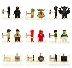 Tell me, seriously, what man wouldn't want a pair of their favorite Lego character on their sleeve.