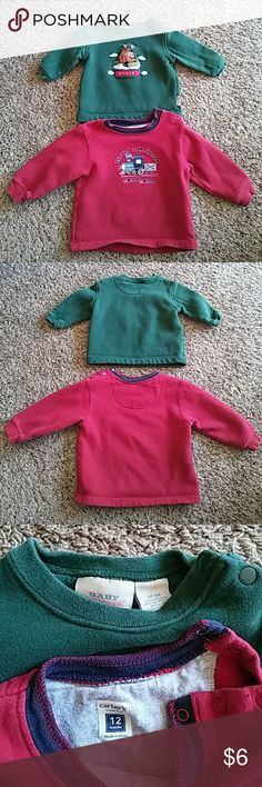 Sweatshirts Two boys sweatshirts  Train - Carter's brand Size 12 months. Great condition. Moose - baby Sonoma brand Size 18 months Great condition.  Both have snaps at the top. Carter's Shirts & Tops Sweatshirts & Hoodies