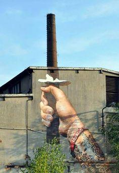 Street art samouraï