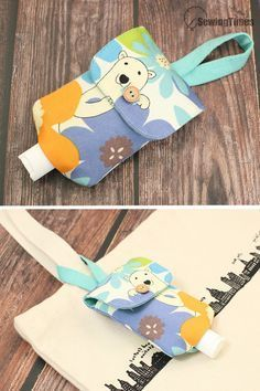 DIY Hand sanitizer Bottle Holder - Any Size !!! // How to make a Portable Pouch Bag Easy Tutorial [sewingtimes] Sewing Basics, Sewing Hacks, Sewing Tutorials, Sewing Crafts, Sewing Projects, Tutorial Sewing, Sewing Diy, Sewing Ideas, Christmas Bazaar Ideas