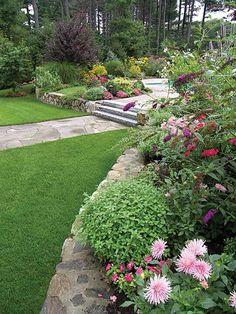 Jardim: 55 ideias para canteiros e caminhos   Constru-Básico – Sua casa em um blog.