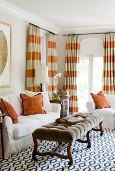 love the horizontal stripes on the curtains.