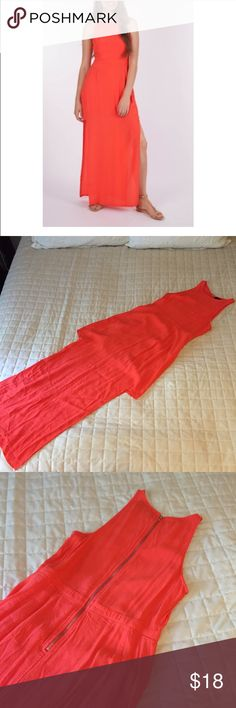 Mink pink lady danger maxi dress Mink pink lady danger maxi dress with rose gold zipper in good condition with small stain on bottom. Perfect for weddings and parties. Size small MINKPINK Dresses Maxi